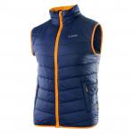 Mens quilted vest HI-TEC Solner, Blue/Orange