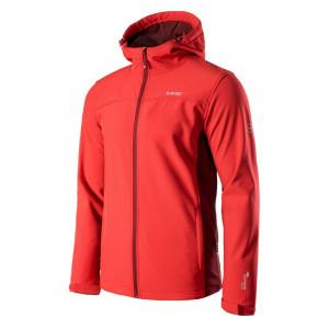 Mens softshell jacket HI-TEC Kars, Red