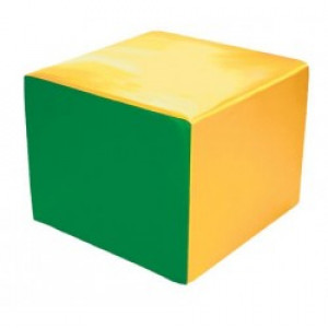 Soft module for active play - cube 200 x 200 x 200 mm