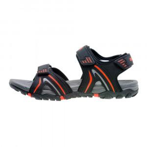 Mens sandals ELBRUS Morton, Black/Orange