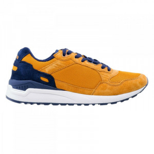Mens casual shoes IGUANA Clote, Mustard/Navy