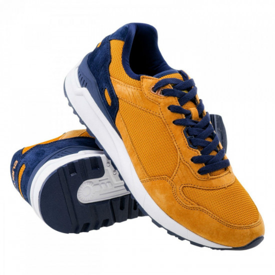 Mens casual shoes IGUANA Clote, Mustard/Navy
