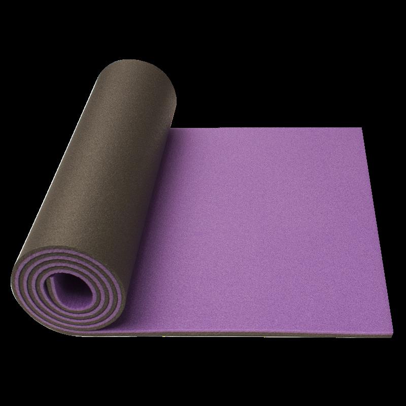 Double layer mat YATE 10 mm, Purple/Black