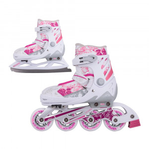2-in-1 Skates/Rollerblades WORKER Pinkola