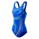 Womens one piece swimsuit MARTES Lady Areina princess blue print