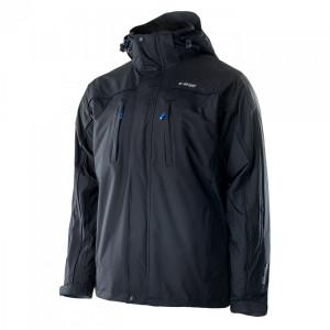 Winter tourism jacket  HI-TEC Titan 3 in 1, Black