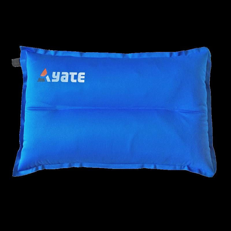 Self-Inflating Pillow YATE Shaped L 43x26x9 cm, Blue