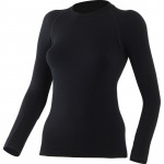 Womens wool thermal t shirt LASTING Wara, Negru
