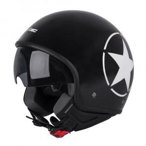Scooter helmet W-TEC FS-710S Revolt, Black