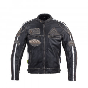 Leather motorcycle jacket W-TEC Sheawen Vintage