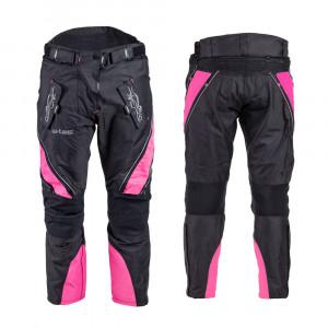 Womens motorcycle pants W-TEC Kaajla NF-2683 - black /pink
