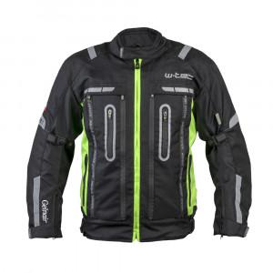 Men's motorcycle jacket W-TEC Gelnair, Black / Green