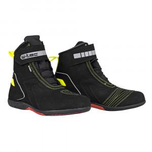 Motorcycle boots W-TEC Sixtreet -Black/Green
