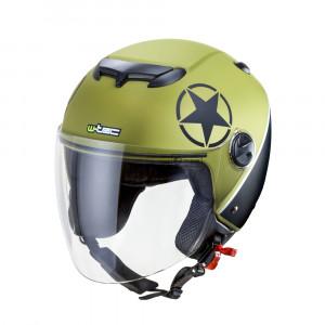 Motorcycle helmet W-TEC YM617 - Green matt